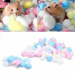 100PCS Comfy Cotton Ball Cage House Filler for Hamster Rat P