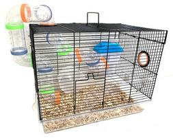 2-Floors Acrylic Clear Syrian Hamsters Rodent Gerbil Mouse M