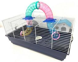 2-Level Habitat Hamster Home Rodent Gerbil Mouse Mice Cage W
