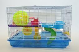 2 LEVEL HAMSTER CAGE #H1812 COMES IN BLUE ONLY