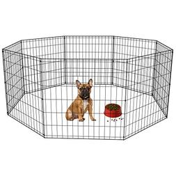 24 Tall Dog Playpen Crate Fence Pet Kennel Play Pen Exercise