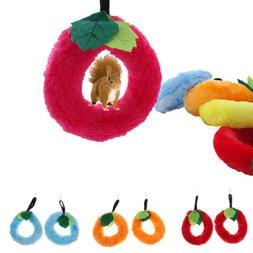 2x Pet Hamster Mouse Leaf Rings Swing Toy Bird Parrot Cage H