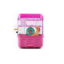 3-Level Drawer-type Hamster Habitat Pet Cage Pink