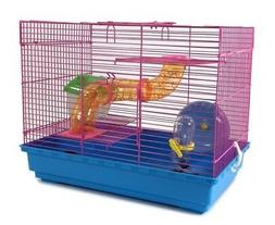 3 level hamster cage wheel tubes house