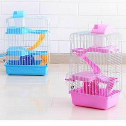 3 Storey Pet Hamster Cage Luxury House Portable Mice Home Ha