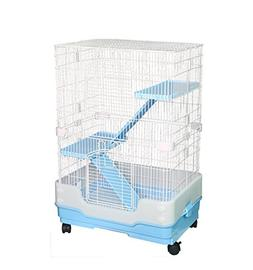 Homey Pet 3 Tiers Chinchilla Hamster Rat Ferret Cage with Sl