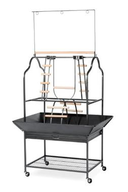Prevue Hendryx 3180 Pet Products Parrot Playstand, Black Ham