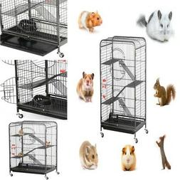 "37"" Small Animal Pet Cage and Habitat with Stand Wheel for G"