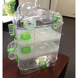 4 Level Sparkle Hamster Mice Mouse Cage with Large Top Exerc