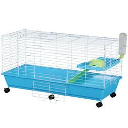 """PawHut 40"""" Rolling Pet Cage Set for Hamster, Small Animals"""