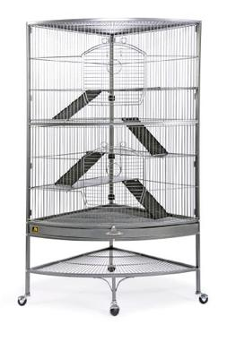Prevue 490 Pet Products Corner Ferret Cage, Black Hammertone