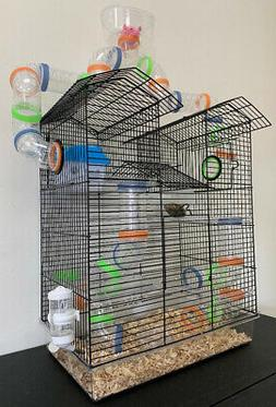 5 Floor Large Twin Tower With Cross Tube Tunnel Hamster Guin