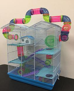 5 Floor Large Twin Towner With Cross Tube Tunnel Hamster Gui