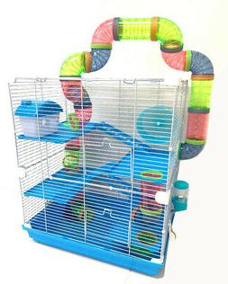 5-Floor Large With Crossover Tube Tunnel Habitat Cage Hamste