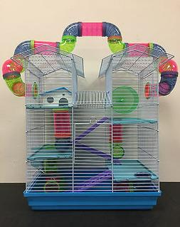5-Level Large Twin Tower Hamster Habitat Mouse Mice Rat Long