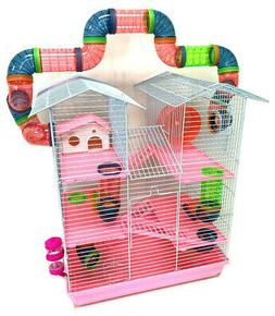 5-Levels Large Twin Tower Syrian Hamster Habitat Rodent Gerb