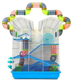5-Levels Large Twin Towner Syrian Hamster Habitat Rodent Ger