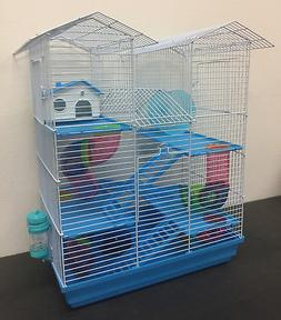 5 Level Large Twin Tower Syrian Hamster Habitat Gerbil Degu