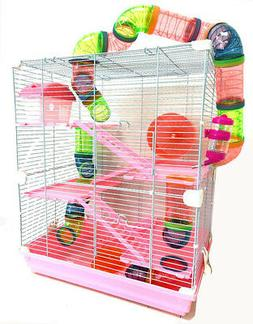 5-Levels Large With Crossover Tube Tunnel Habitat Cage Hamst