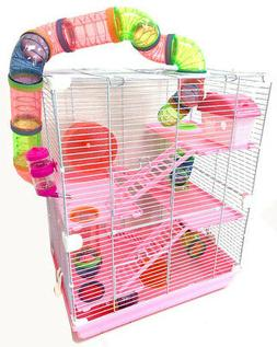 5-Tier Large Hamster Habitat Cage Crossover Tube Hide House
