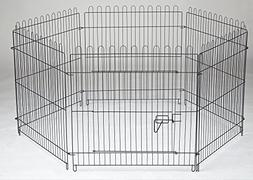 "Homey Pet 6 Panels Playpen-LCK29-Black-28"" by 29"""
