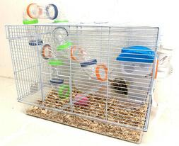 Acrylic 2-Levels Hamster Habitat Rodent Gerbil Mouse Mice Ra