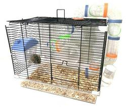Acrylic 2-Levels Hamsters Habitat Rodent Gerbil Mouse Mice R