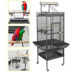 """SUPER DEAL PRO 53""""/61""""/68"""" Large Bird Cage with Play Top & R"""