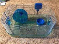 Blue kaytee critter trail cage small animal habitat mouse/ha