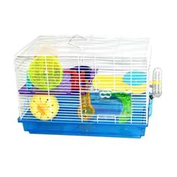 Blue Hamster Cage, 47x30x32cm, Case of 1