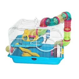 Blue Hamster Cage, 45x30x33cm, Case of 1