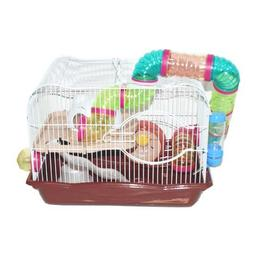 Brown Hamster Cage, 45x30x33cm, Case of 1
