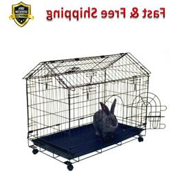 bunny house strong wire arched roof bunny