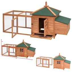 Chicken Run Coop Large Hen House Poultry Wood Rabbit Hutch S
