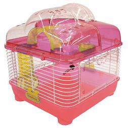 YML Clear Plastic Dwarf Hamster Mice Cage with Ball on Top,