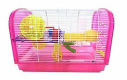 YML Clear Plastic Dwarf Hamster Mice Cage Dome with Color Ac