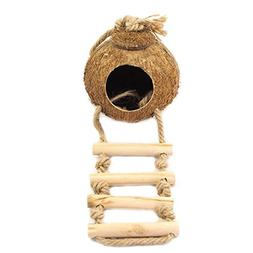 OMEM Coconut Shell Bird House,Hamster Cage and Hideouts with