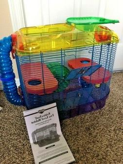 Critter Trail 2 Level Habitat Hamster Cage with Manual