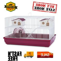 Deluxe Hamster & Gerbil Cage with exercise wheel,  platforms