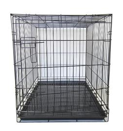 YML 42-Inch Dog Kennel Cage with Wire Bottom Grate and Plast