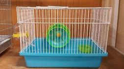 DWARF HAMSTER CAGE COMES WITH WHEEL AND WATER BOTTLE #H166