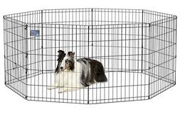 Pet Exercise Pen Foldable Playpen Cage Kennel Dog Fence Trai