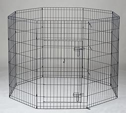 "42"" Homey Pet Folding LCk 3.5ft Pet Playpen with Door, Black"