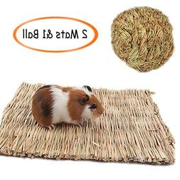 Grass Mat,Woven Bed Mat for Small Animal,Chew Toy Bed Play B