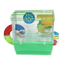 Green Hamster Cage 36x24x41.5cm, Case of 1