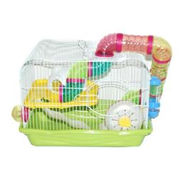 Green Hamster Cage, 45x30x33cm, Case of 1