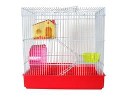 H820 3 LEVEL HAMSTER CAGE - RED ONLY