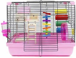 hamster and gerbil cage habitat with toys