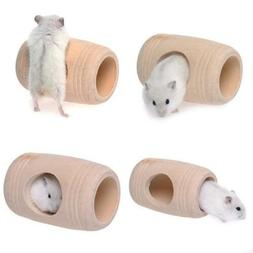 Small Pet Dwarf Hamsters Mice Wood Play House For Cage Kenne