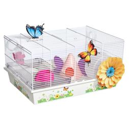 MidWest Homes for Pets Hamster Cage | Beautiful Butterfly Th